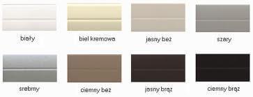 Rolety zewnętrzne kolory